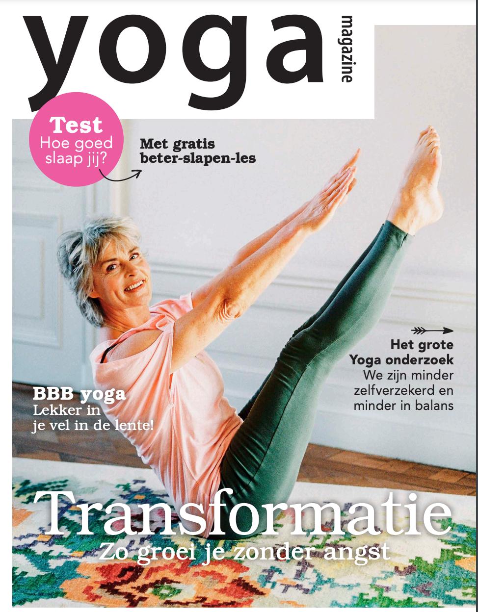 Cover Yoga magazine Annette Visser